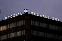 Litery podświetlane 3D PK Wydział Mechaniczny 2