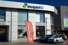Megatel logo 3D z podświeteleniem LED 2