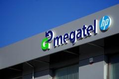 Megatel logo 3D z podświeteleniem LED
