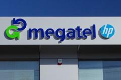 Megatel logo 3D z podświeteleniem LED 3