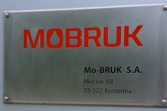 Mobruk szyld grawerowany