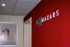 Logo 3D Mazars - styrodur