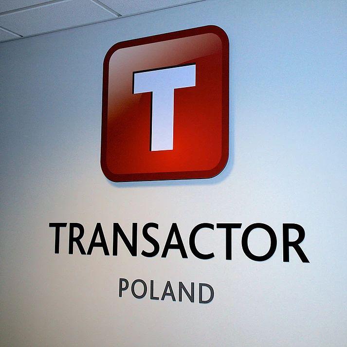 TRANSACTOR Kraków - oznakowanie biura